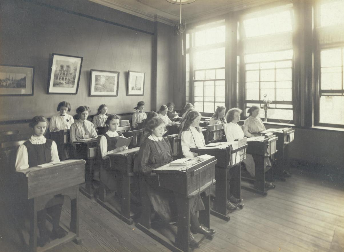 Central Newcastle High School in 1916