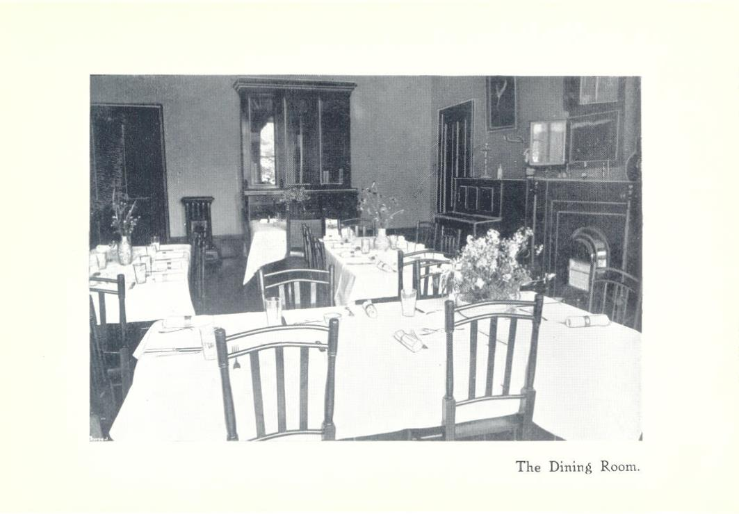 Newcastle Church High Boarding House Dining Room 1916
