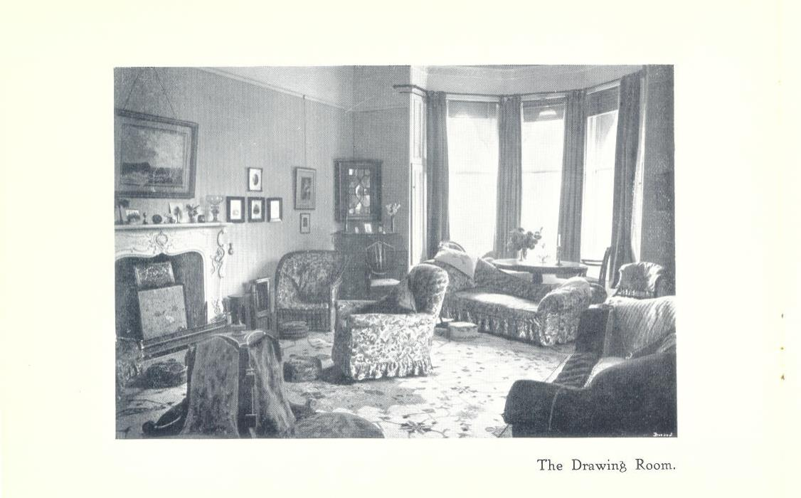 Newcastle Church High Boarding House Drawing Room 1916