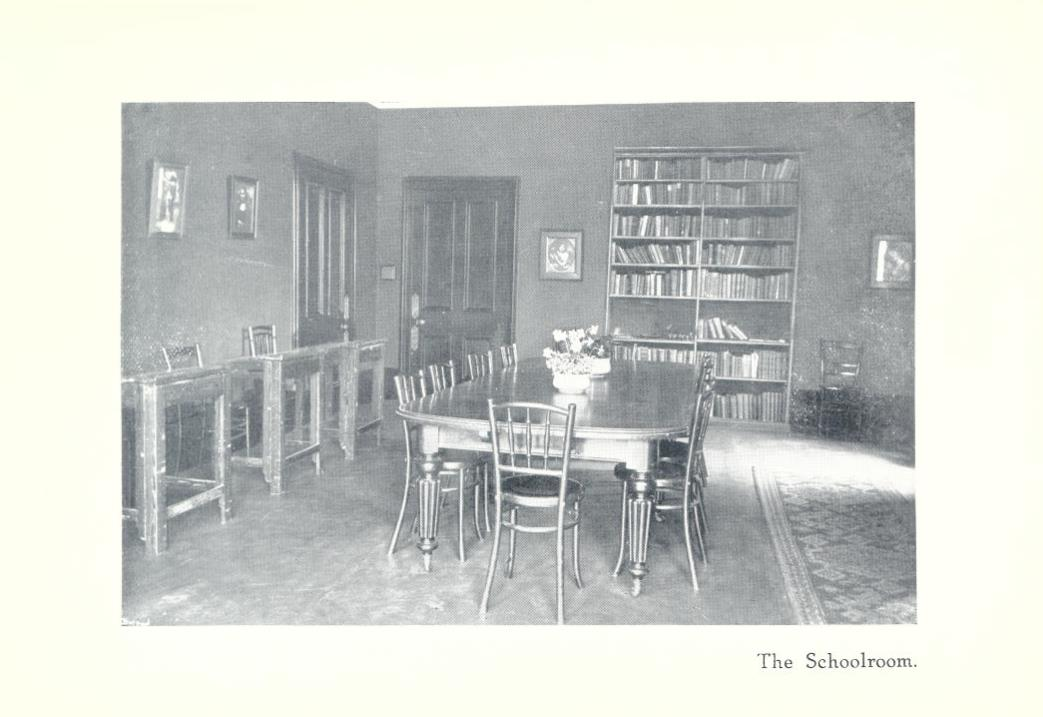 Newcastle Church High Boarding House Schoolroom 1916